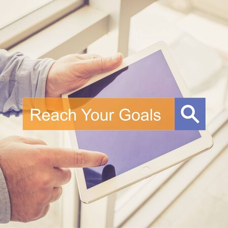 reach: SEARCH TECHNOLOGY COMMUNICATION  Reach Your Goals TABLET FINDING CONCEPT