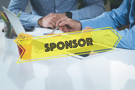 sponsor: BUSINESS WORKING OFFICE Sponsor TEAMWORK BRAINSTORMING CONCEPT Stock Photo