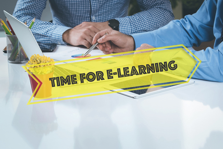 instances: BUSINESS WORKING OFFICE Time For E-Learning TEAMWORK BRAINSTORMING CONCEPT