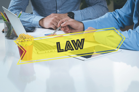 prosecutor: BUSINESS WORKING OFFICE Law TEAMWORK BRAINSTORMING CONCEPT Stock Photo