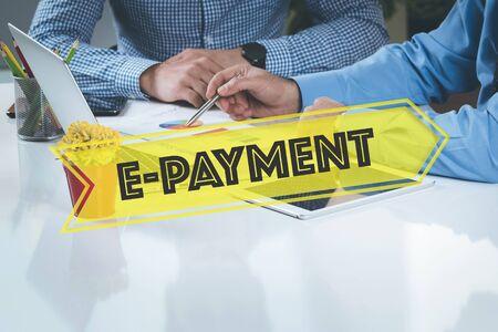 epayment: BUSINESS WORKING OFFICE E-Payment TEAMWORK BRAINSTORMING TECHNOLOGY CONCEPT