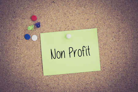 non profit: Non Profit written on sticky note pinned on pinboard