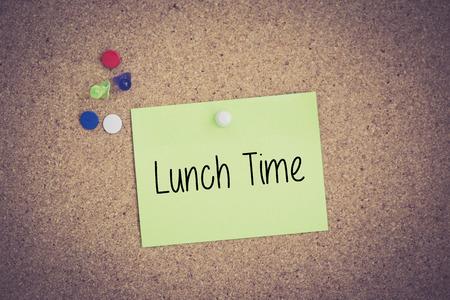 regenerate: Lunch Time written on sticky note pinned on pinboard