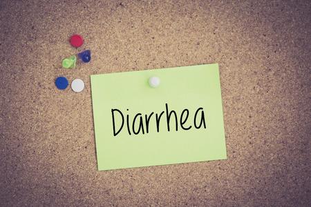 diarrea: La diarrea por escrito en nota puestas en tabl�n de anuncios