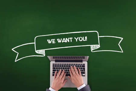 we the people: PEOPLE WORKING OFFICE COMMUNICATION  WE WANT YOU! TECHNOLOGY CONCEPT