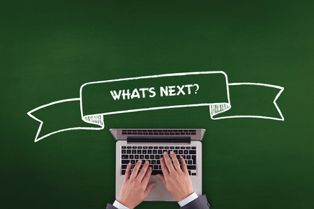what's ahead: PEOPLE WORKING OFFICE COMMUNICATION  WHATS NEXT? TECHNOLOGY CONCEPT