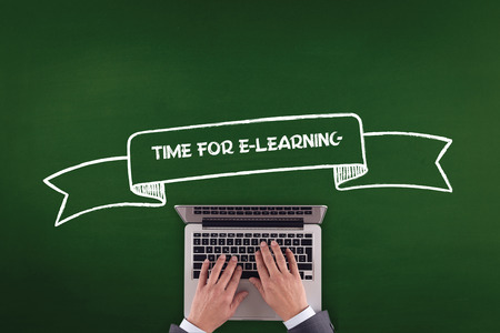 instances: PEOPLE WORKING OFFICE COMMUNICATION  TIME FOR E-LEARNING TECHNOLOGY CONCEPT
