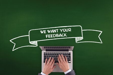 we the people: PEOPLE WORKING OFFICE COMMUNICATION  WE WANT YOUR FEEDBACK TECHNOLOGY CONCEPT