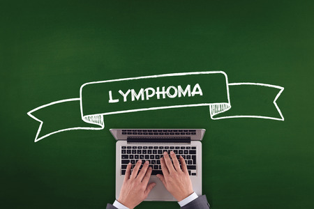 lymphoma: PEOPLE WORKING OFFICE COMMUNICATION  LYMPHOMA TECHNOLOGY CONCEPT Stock Photo