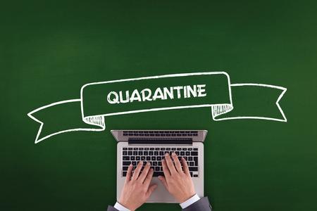 quarantine: PEOPLE WORKING OFFICE COMMUNICATION  QUARANTINE TECHNOLOGY CONCEPT