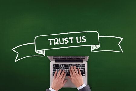 trustworthiness: PEOPLE WORKING OFFICE COMMUNICATION  TRUST US TECHNOLOGY CONCEPT
