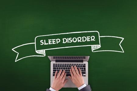 sleep disorder: PEOPLE WORKING OFFICE COMMUNICATION  SLEEP DISORDER TECHNOLOGY CONCEPT