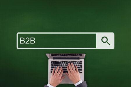 b2b: PEOPLE WORKING OFFICE COMMUNICATION  B2B TECHNOLOGY SEARCHING CONCEPT