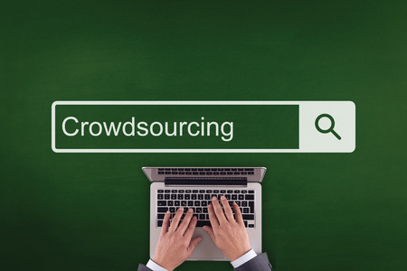 crowd source: PEOPLE WORKING OFFICE COMMUNICATION  CROWDSOURCING TECHNOLOGY SEARCHING CONCEPT
