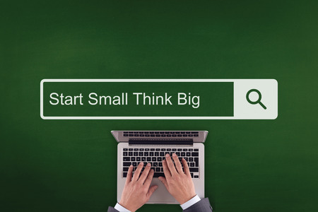 surpass: PEOPLE WORKING OFFICE COMMUNICATION  START SMALL THINK BIG TECHNOLOGY SEARCHING CONCEPT