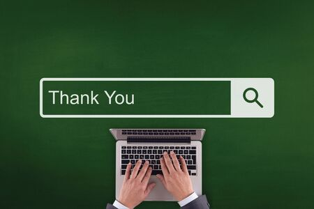 acknowledgment: PEOPLE WORKING OFFICE COMMUNICATION  THANK YOU TECHNOLOGY SEARCHING CONCEPT