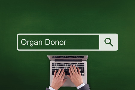 recipient: PEOPLE COMMUNICATION HEALTHCARE  ORGAN DONOR TECHNOLOGY SEARCHING CONCEPT Stock Photo