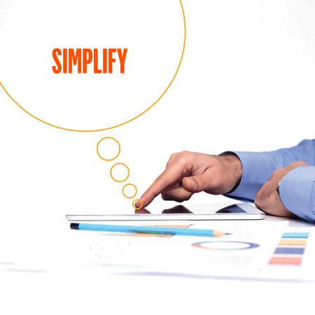 pragmatic: BUSINESSMAN WORKING OFFICE  SIMPLIFY COMMUNICATION TECHNOLOGY CONCEPT