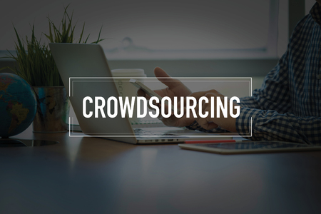 sourcing: PEOPLE USING SMARTPHONE COMMUNICATION TECHNOLOGY  CROWDSOURCING OFFICE CONCEPT
