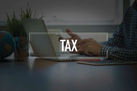 exemption: PEOPLE USING SMARTPHONE COMMUNICATION TECHNOLOGY  TAX OFFICE CONCEPT