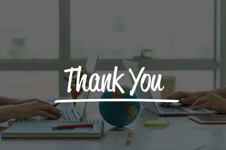 TEAMWORK OFFICE BUSINESS COMMUNICATION TECHNOLOGY  THANK YOU GLOBAL NETWORK CONCEPT