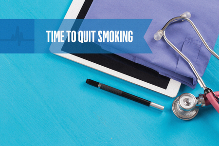 burning money: HEALTHCARE DOCTOR TECHNOLOGY  TIME TO QUIT SMOKING CONCEPT