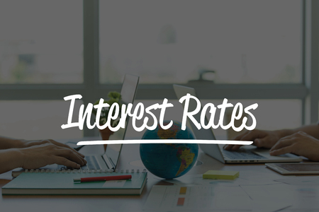global rates: TEAMWORK OFFICE BUSINESS COMMUNICATION TECHNOLOGY  INTEREST RATES GLOBAL NETWORK CONCEPT Stock Photo