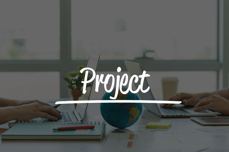 businessplan: TEAMWORK OFFICE BUSINESS COMMUNICATION TECHNOLOGY  PROJECT GLOBAL NETWORK CONCEPT Stock Photo