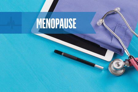 MENOPAUSE: HEALTHCARE DOCTOR TECHNOLOGY  MENOPAUSE CONCEPT Stock Photo