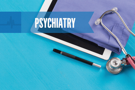 psychiatry: HEALTHCARE DOCTOR TECHNOLOGY  PSYCHIATRY CONCEPT Stock Photo