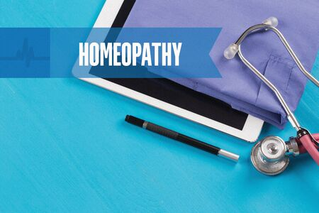 HEALTHCARE DOCTOR TECHNOLOGY  HOMEOPATHY CONCEPT Stock Photo