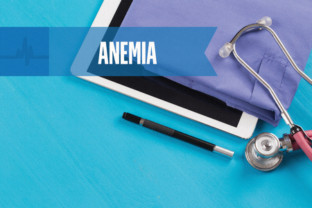 anemia: HEALTHCARE DOCTOR TECHNOLOGY  ANEMIA CONCEPT