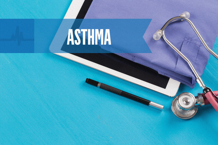 HEALTHCARE DOCTOR TECHNOLOGY  ASTHMA CONCEPT Stock Photo