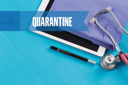 HEALTHCARE DOCTOR TECHNOLOGY  QUARANTINE CONCEPT
