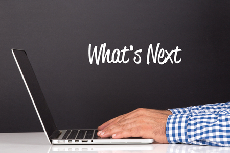 what's ahead: WORKING OFFICE COMMUNICATION PEOPLE USING COMPUTER WHATS NEXT? CONCEPT