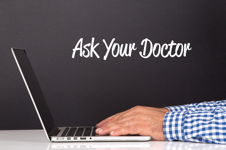 doctor burnout: WORKING OFFICE COMMUNICATION PEOPLE USING COMPUTER ASK YOUR DOCTOR CONCEPT