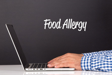 food allergy: WORKING OFFICE COMMUNICATION PEOPLE USING COMPUTER FOOD ALLERGY CONCEPT