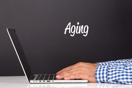aging concept: WORKING OFFICE COMMUNICATION PEOPLE USING COMPUTER AGING CONCEPT