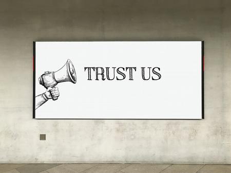 trustworthiness: MEGAPHONE ANNOUNCEMENT TRUST US ON BILLBOARD