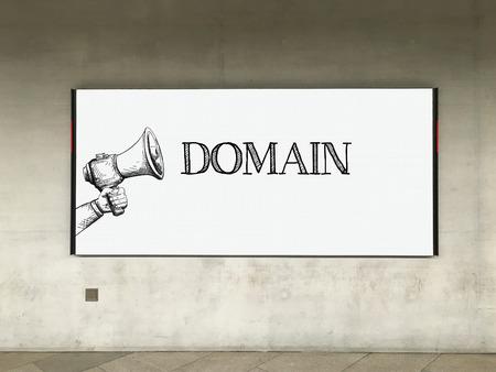 MEGAPHONE ANNOUNCEMENT DOMAIN ON BILLBOARD