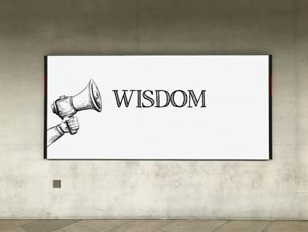 MEGAFOON AANKONDIGING WISDOM op billboard