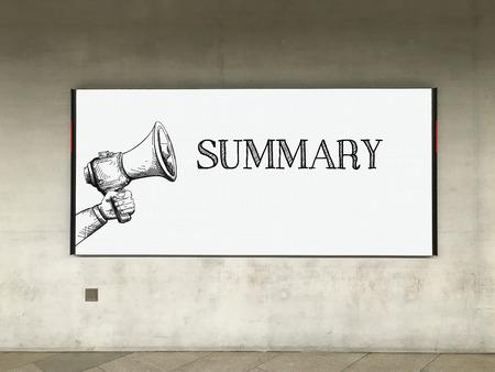 MEGAPHONE ANNOUNCEMENT SUMMARY ON BILLBOARD Imagens