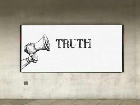 answer approve of: MEGAPHONE ANNOUNCEMENT TRUTH ON BILLBOARD
