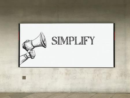 pragmatic: MEGAPHONE ANNOUNCEMENT SIMPLIFY ON BILLBOARD