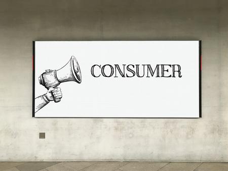 consumer: MEGAPHONE ANNOUNCEMENT CONSUMER ON BILLBOARD