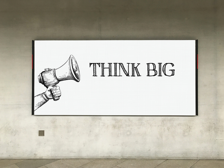 overachieving: MEGAPHONE ANNOUNCEMENT THINK BIG ON BILLBOARD