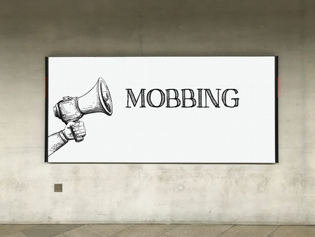 mobbing: MEGAPHONE ANNOUNCEMENT MOBBING ON BILLBOARD