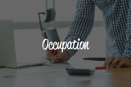 communication occupation: BUSINESS OFFICE WORKING COMMUNICATION OCCUPATION BUSINESSMAN CONCEPT Stock Photo