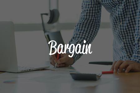 bargain: BUSINESS OFFICE WORKING COMMUNICATION BARGAIN BUSINESSMAN CONCEPT Stock Photo