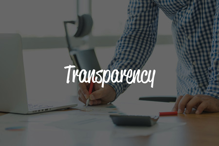 BUSINESS OFFICE WORKING COMMUNICATION TRANSPARENCY BUSINESSMAN CONCEPT Stock Photo